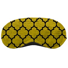 Tile1 Black Marble & Yellow Leather Sleeping Masks by trendistuff