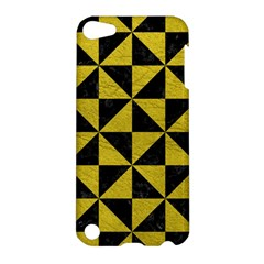Triangle1 Black Marble & Yellow Leather Apple Ipod Touch 5 Hardshell Case by trendistuff