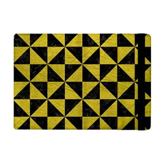 Triangle1 Black Marble & Yellow Leather Apple Ipad Mini Flip Case by trendistuff