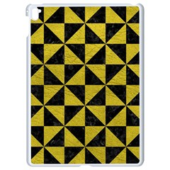 Triangle1 Black Marble & Yellow Leather Apple Ipad Pro 9 7   White Seamless Case by trendistuff