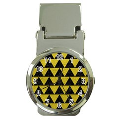 Triangle2 Black Marble & Yellow Leather Money Clip Watches by trendistuff