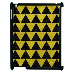 Triangle2 Black Marble & Yellow Leather Apple Ipad 2 Case (black) by trendistuff