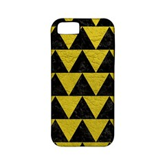 Triangle2 Black Marble & Yellow Leather Apple Iphone 5 Classic Hardshell Case (pc+silicone) by trendistuff