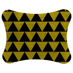 Triangle2 Black Marble & Yellow Leather Jigsaw Puzzle Photo Stand (bow) by trendistuff