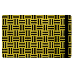 Woven1 Black Marble & Yellow Leather Apple Ipad 3/4 Flip Case by trendistuff