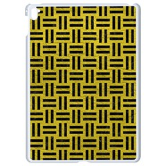 Woven1 Black Marble & Yellow Leather Apple Ipad Pro 9 7   White Seamless Case by trendistuff
