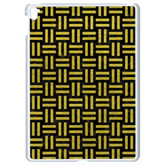 Woven1 Black Marble & Yellow Leather (r) Apple Ipad Pro 9 7   White Seamless Case by trendistuff