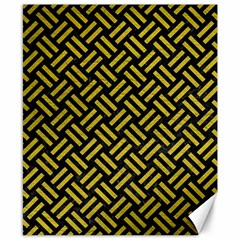 Woven2 Black Marble & Yellow Leather (r) Canvas 8  X 10  by trendistuff