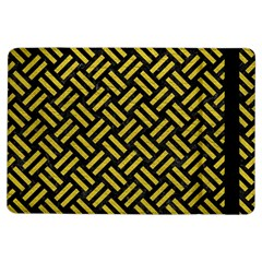 Woven2 Black Marble & Yellow Leather (r) Ipad Air Flip by trendistuff