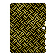 Woven2 Black Marble & Yellow Leather (r) Samsung Galaxy Tab 4 (10 1 ) Hardshell Case  by trendistuff