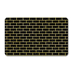 Brick1 Black Marble & Yellow Watercolor (r) Magnet (rectangular) by trendistuff