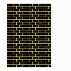 Brick1 Black Marble & Yellow Watercolor (r) Small Garden Flag (two Sides) by trendistuff