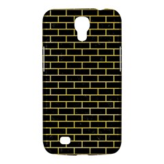 Brick1 Black Marble & Yellow Watercolor (r) Samsung Galaxy Mega 6 3  I9200 Hardshell Case
