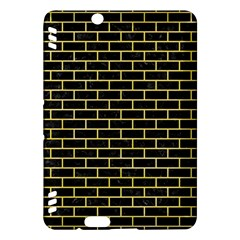 Brick1 Black Marble & Yellow Watercolor (r) Kindle Fire Hdx Hardshell Case by trendistuff