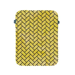 Brick2 Black Marble & Yellow Watercolor Apple Ipad 2/3/4 Protective Soft Cases by trendistuff