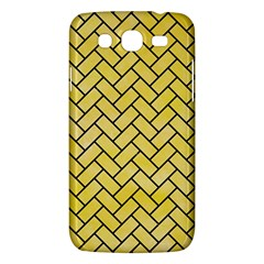 Brick2 Black Marble & Yellow Watercolor Samsung Galaxy Mega 5 8 I9152 Hardshell Case  by trendistuff