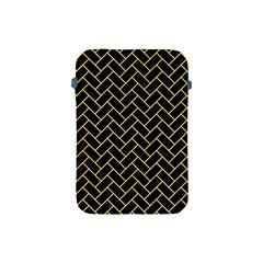 Brick2 Black Marble & Yellow Watercolor (r) Apple Ipad Mini Protective Soft Cases by trendistuff