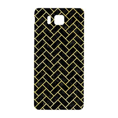 Brick2 Black Marble & Yellow Watercolor (r) Samsung Galaxy Alpha Hardshell Back Case by trendistuff