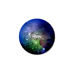 Wonderful Lion Silhouette On Dark Colorful Background Golf Ball Marker (10 Pack) by FantasyWorld7