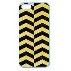 Chevron2 Black Marble & Yellow Watercolor Apple Seamless Iphone 5 Case (color) by trendistuff