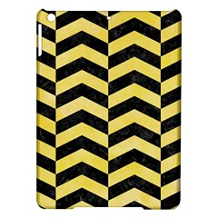 Chevron2 Black Marble & Yellow Watercolor Ipad Air Hardshell Cases