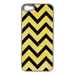 Chevron9 Black Marble & Yellow Watercolor Apple Iphone 5 Case (silver) by trendistuff