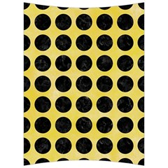 Circles1 Black Marble & Yellow Watercolor Back Support Cushion by trendistuff