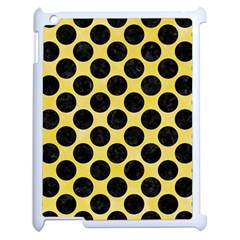 Circles2 Black Marble & Yellow Watercolor Apple Ipad 2 Case (white) by trendistuff