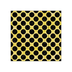 Circles2 Black Marble & Yellow Watercolor Acrylic Tangram Puzzle (4  X 4 ) by trendistuff