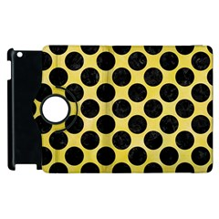 Circles2 Black Marble & Yellow Watercolor Apple Ipad 2 Flip 360 Case by trendistuff