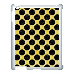 Circles2 Black Marble & Yellow Watercolor Apple Ipad 3/4 Case (white) by trendistuff