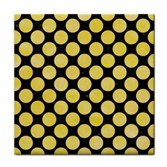Circles2 Black Marble & Yellow Watercolor (r) Face Towel by trendistuff