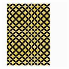 Circles3 Black Marble & Yellow Watercolor Small Garden Flag (two Sides) by trendistuff