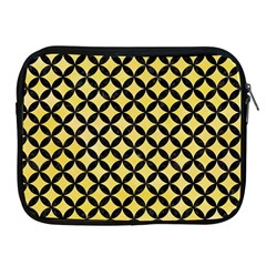 Circles3 Black Marble & Yellow Watercolor Apple Ipad 2/3/4 Zipper Cases by trendistuff