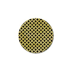 Circles3 Black Marble & Yellow Watercolor (r) Golf Ball Marker (10 Pack) by trendistuff