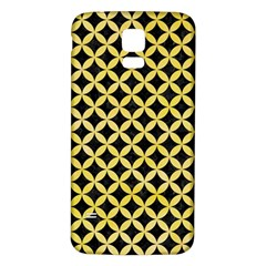 Circles3 Black Marble & Yellow Watercolor (r) Samsung Galaxy S5 Back Case (white)