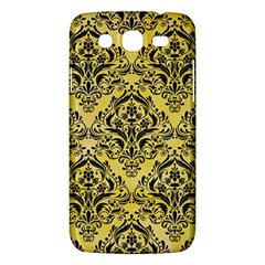 Damask1 Black Marble & Yellow Watercolor Samsung Galaxy Mega 5 8 I9152 Hardshell Case  by trendistuff