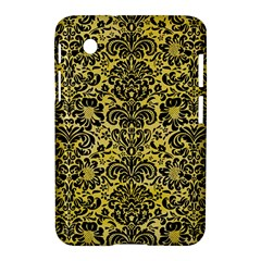 Damask2 Black Marble & Yellow Watercolor Samsung Galaxy Tab 2 (7 ) P3100 Hardshell Case