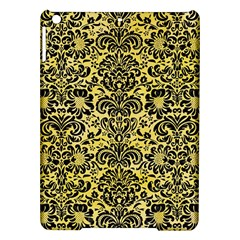 Damask2 Black Marble & Yellow Watercolor Ipad Air Hardshell Cases