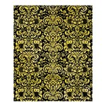 DAMASK2 BLACK MARBLE & YELLOW WATERCOLOR (R) Shower Curtain 60  x 72  (Medium)  54.25 x65.71 Curtain