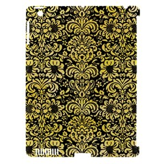 Damask2 Black Marble & Yellow Watercolor (r) Apple Ipad 3/4 Hardshell Case (compatible With Smart Cover) by trendistuff