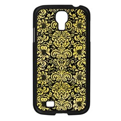 Damask2 Black Marble & Yellow Watercolor (r) Samsung Galaxy S4 I9500/ I9505 Case (black) by trendistuff