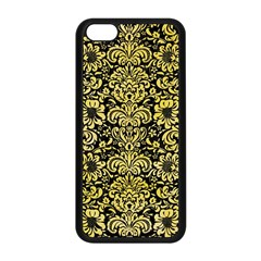 Damask2 Black Marble & Yellow Watercolor (r) Apple Iphone 5c Seamless Case (black) by trendistuff