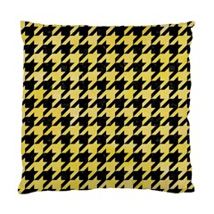 Houndstooth1 Black Marble & Yellow Watercolor Standard Cushion Case (two Sides) by trendistuff