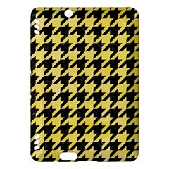 Houndstooth1 Black Marble & Yellow Watercolor Kindle Fire Hdx Hardshell Case by trendistuff