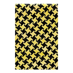 Houndstooth2 Black Marble & Yellow Watercolor Shower Curtain 48  X 72  (small)  by trendistuff