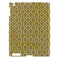 Hexagon1 Black Marble & Yellow Watercolor Apple Ipad 3/4 Hardshell Case by trendistuff