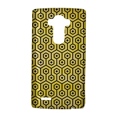 Hexagon1 Black Marble & Yellow Watercolor Lg G4 Hardshell Case by trendistuff