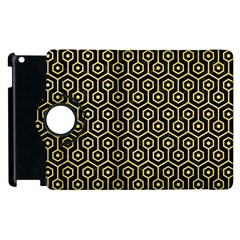 Hexagon1 Black Marble & Yellow Watercolor (r) Apple Ipad 2 Flip 360 Case by trendistuff