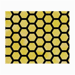 Hexagon2 Black Marble & Yellow Watercolor Small Glasses Cloth by trendistuff